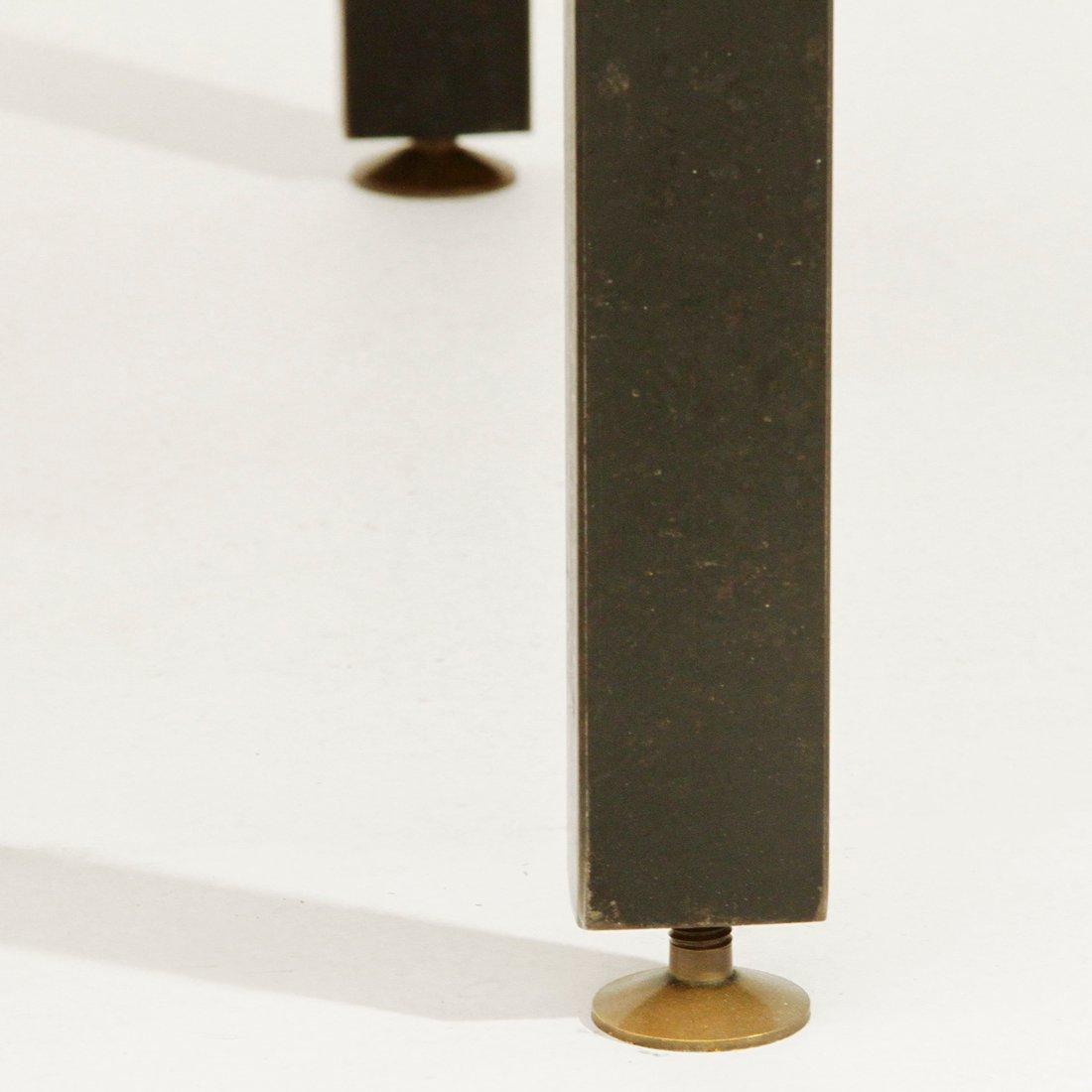 italienischer esstisch mit gelber tischplatte aus glas 1960er bei pamono kaufen. Black Bedroom Furniture Sets. Home Design Ideas