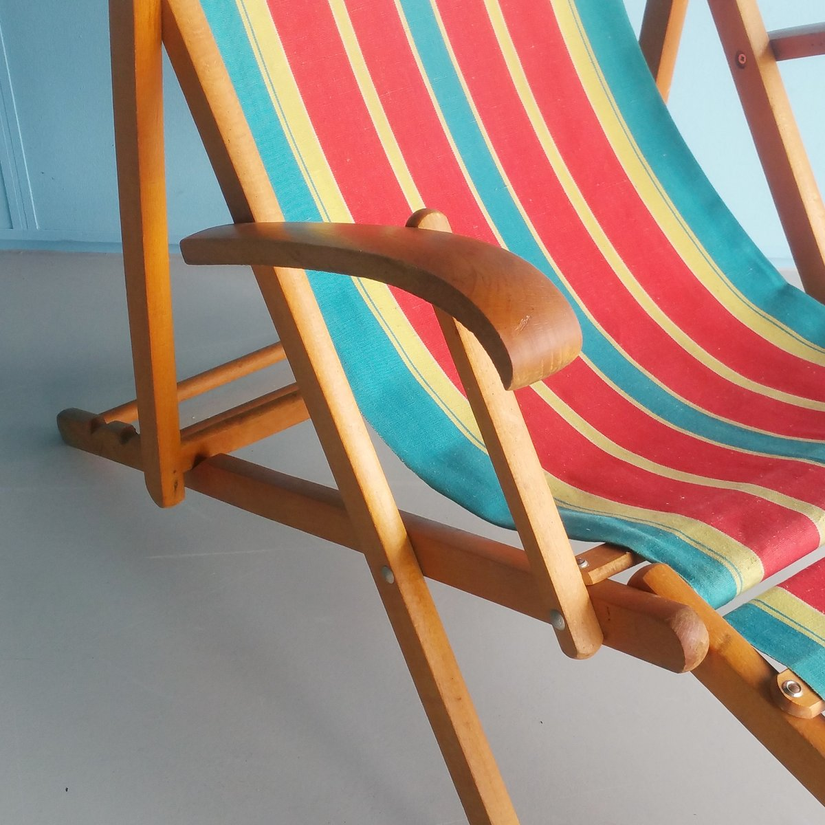 Vintage folding beach chairs - Vintage Folding Wooden Beach Chair 1960s 4 301 00 Price Per Piece