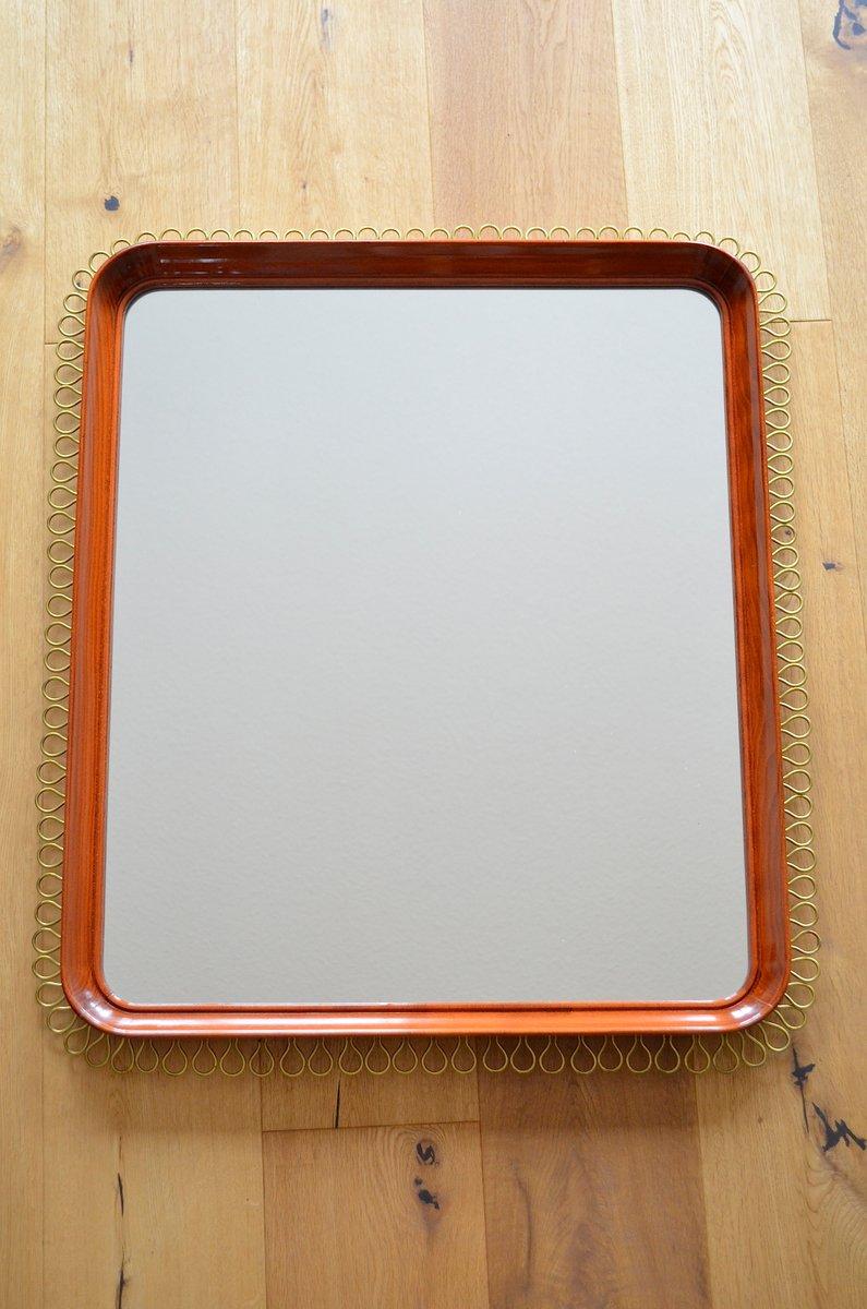 skandinavischer spiegel mit schlaufen rahmen 1960er bei. Black Bedroom Furniture Sets. Home Design Ideas