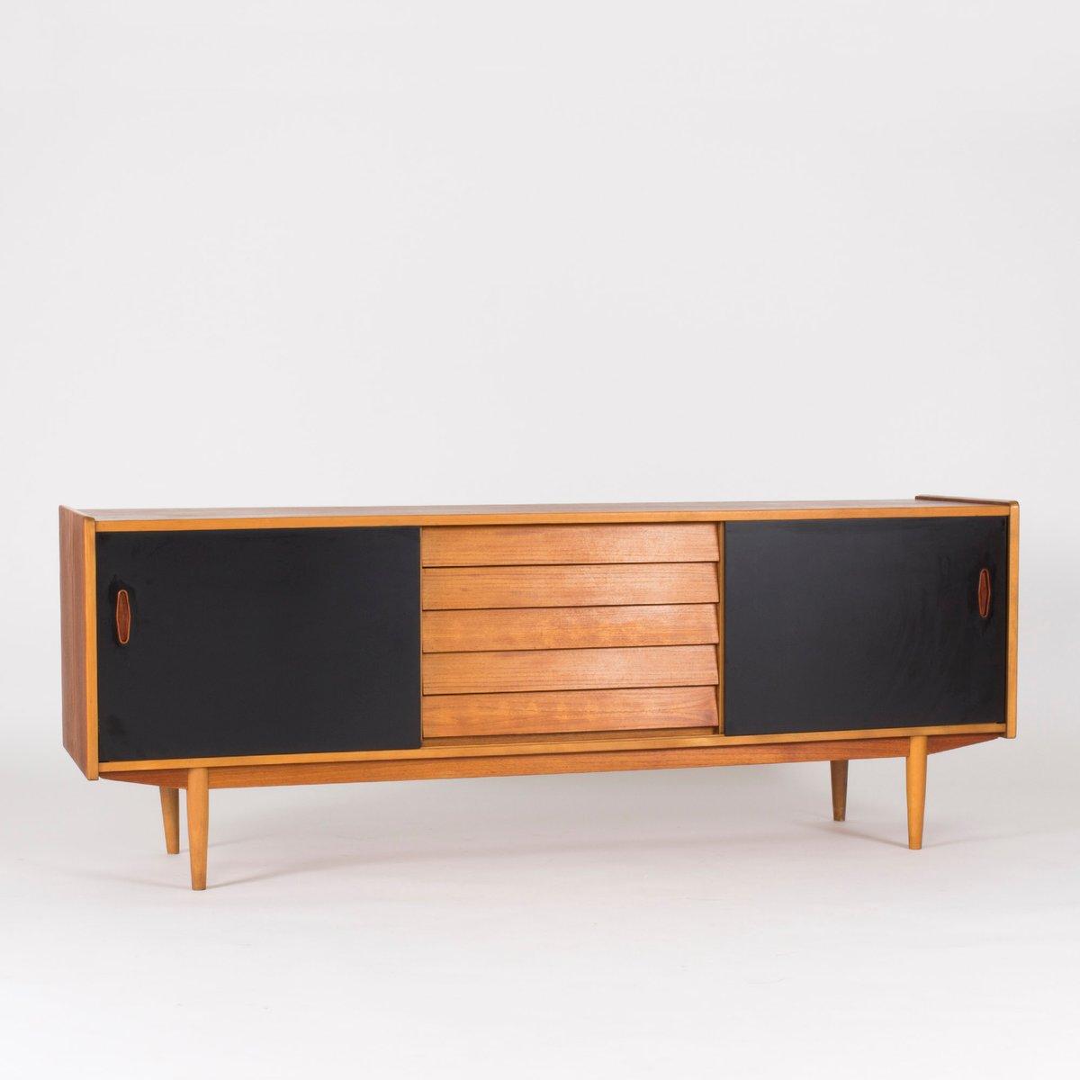 teak sideboard from hugo troeds 1950s for sale at pamono. Black Bedroom Furniture Sets. Home Design Ideas