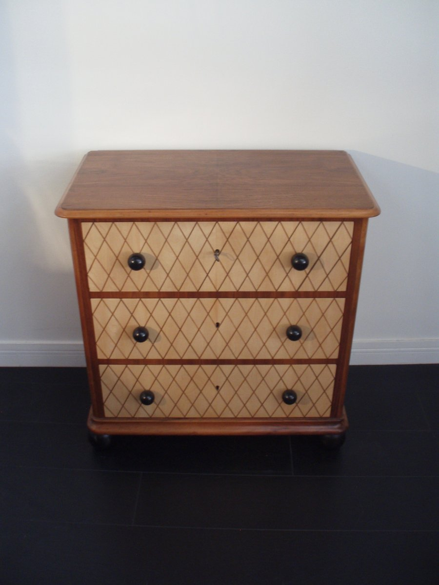 swiss art d co commode 1940s for sale at pamono. Black Bedroom Furniture Sets. Home Design Ideas