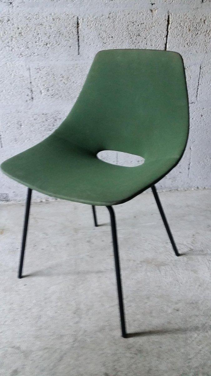 chaise tonneau par pierre guariche pour steiner 1950s en vente sur pamono. Black Bedroom Furniture Sets. Home Design Ideas