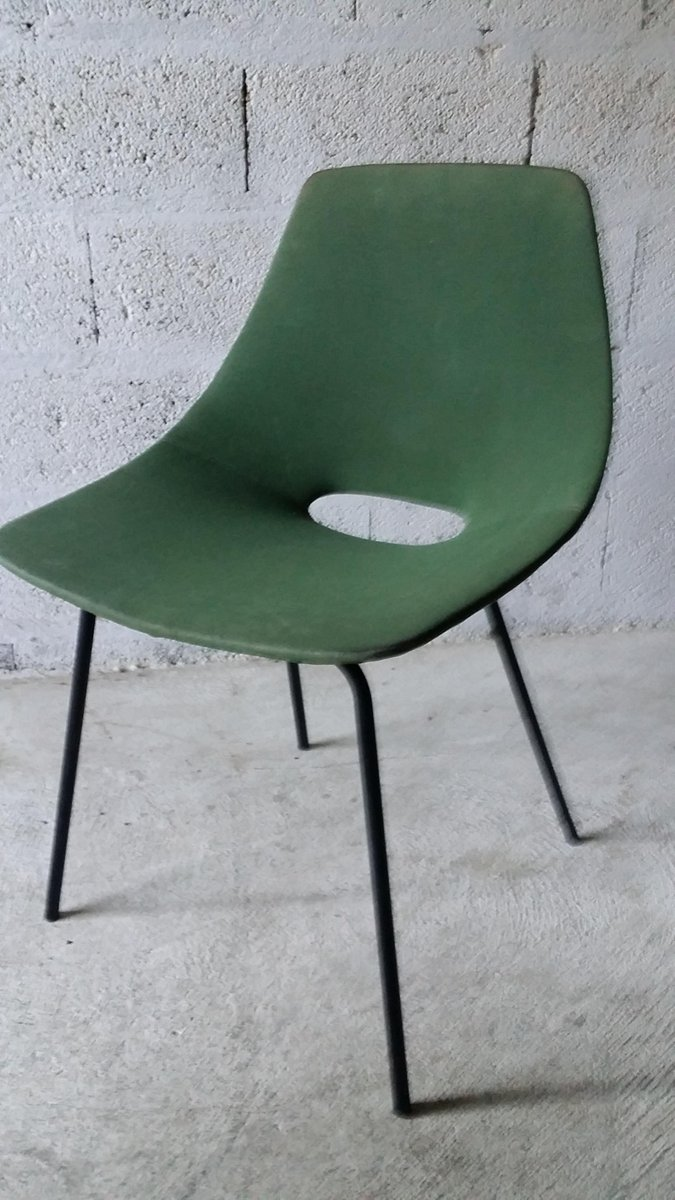tonneau chair by pierre guariche for steiner 1950s for. Black Bedroom Furniture Sets. Home Design Ideas
