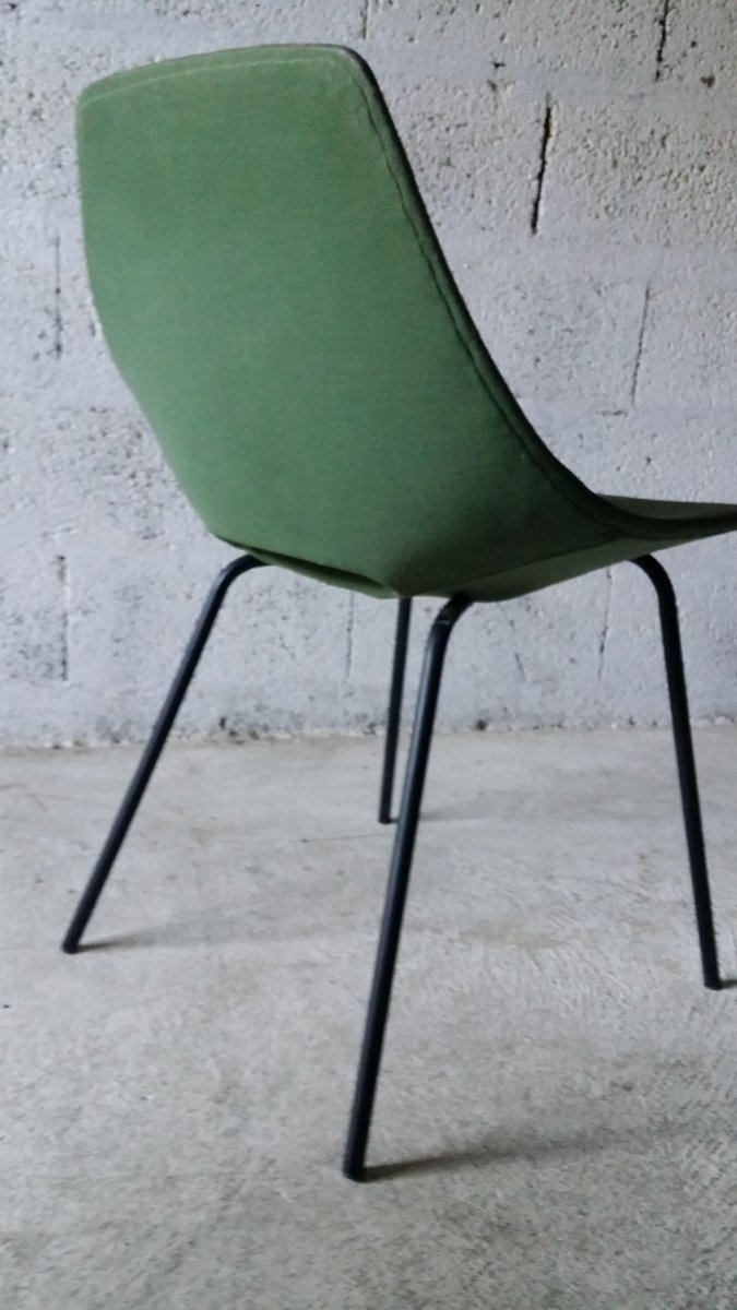 tonneau chair by pierre guariche for steiner 1950s for sale at pamono. Black Bedroom Furniture Sets. Home Design Ideas