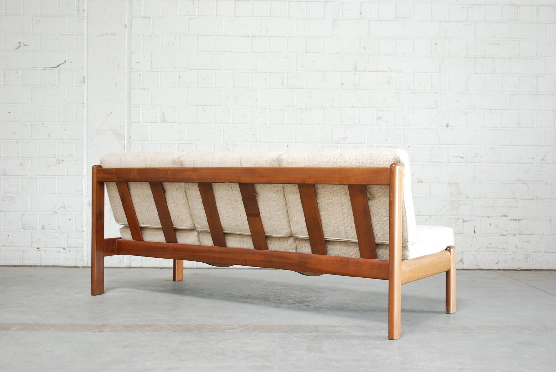 Vintage Danish Cherry Sofa & Chair from Knoll for sale at Pamono