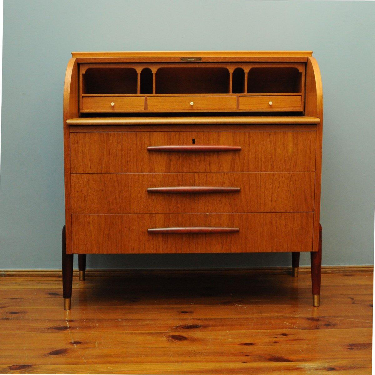 100 teak secretary desk mid century modern teak secretrary