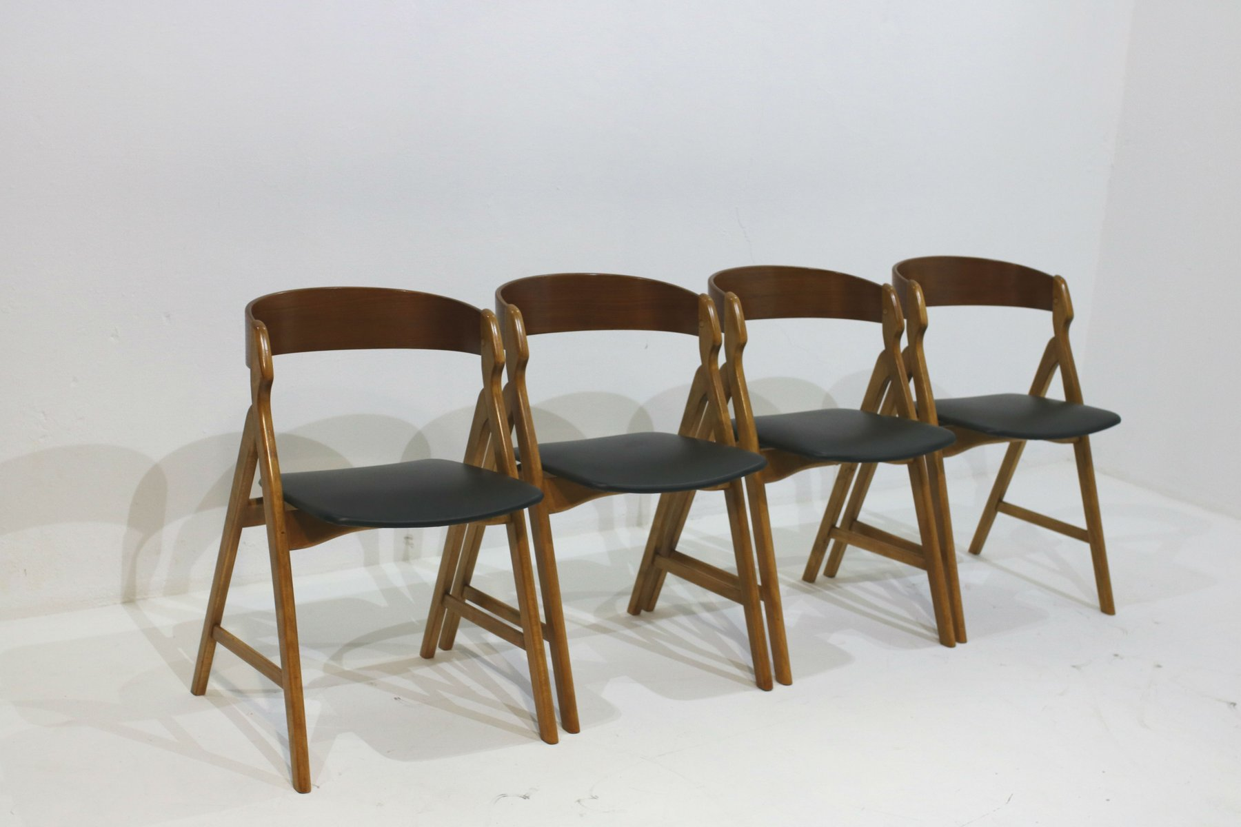 Vintage Dining Chairs by Henning Kjaernulf Set of 4 for sale at