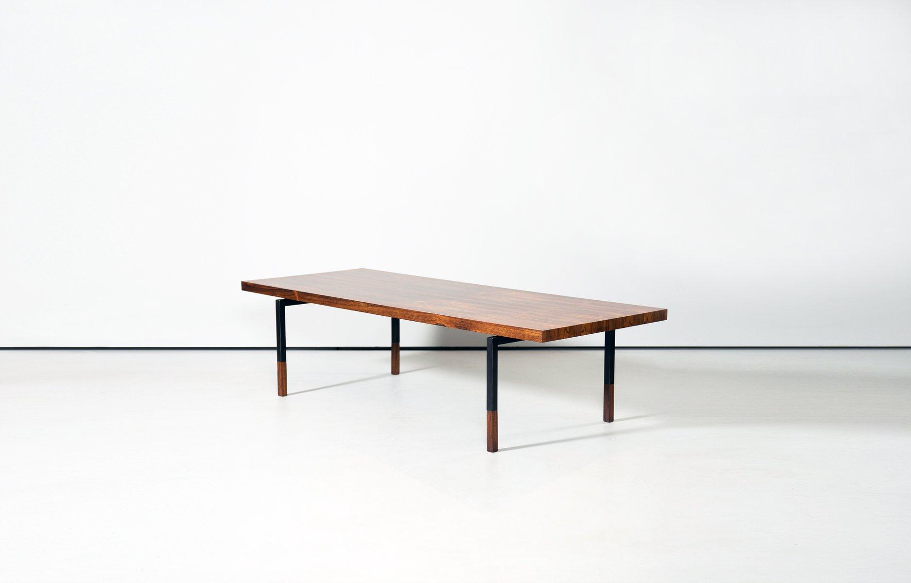 vintage tisch aus palisander metall von johannes. Black Bedroom Furniture Sets. Home Design Ideas