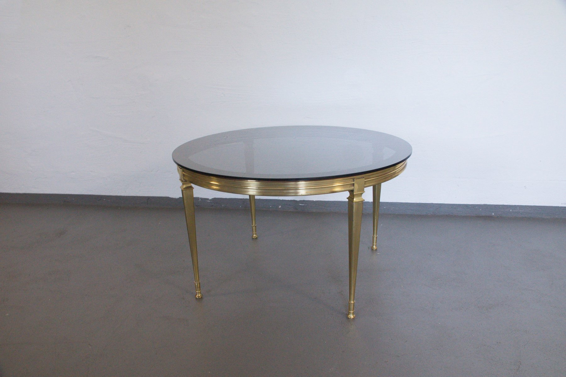 Vintage Italian Brass Glass Coffee Table 1960s For Sale At Pamono