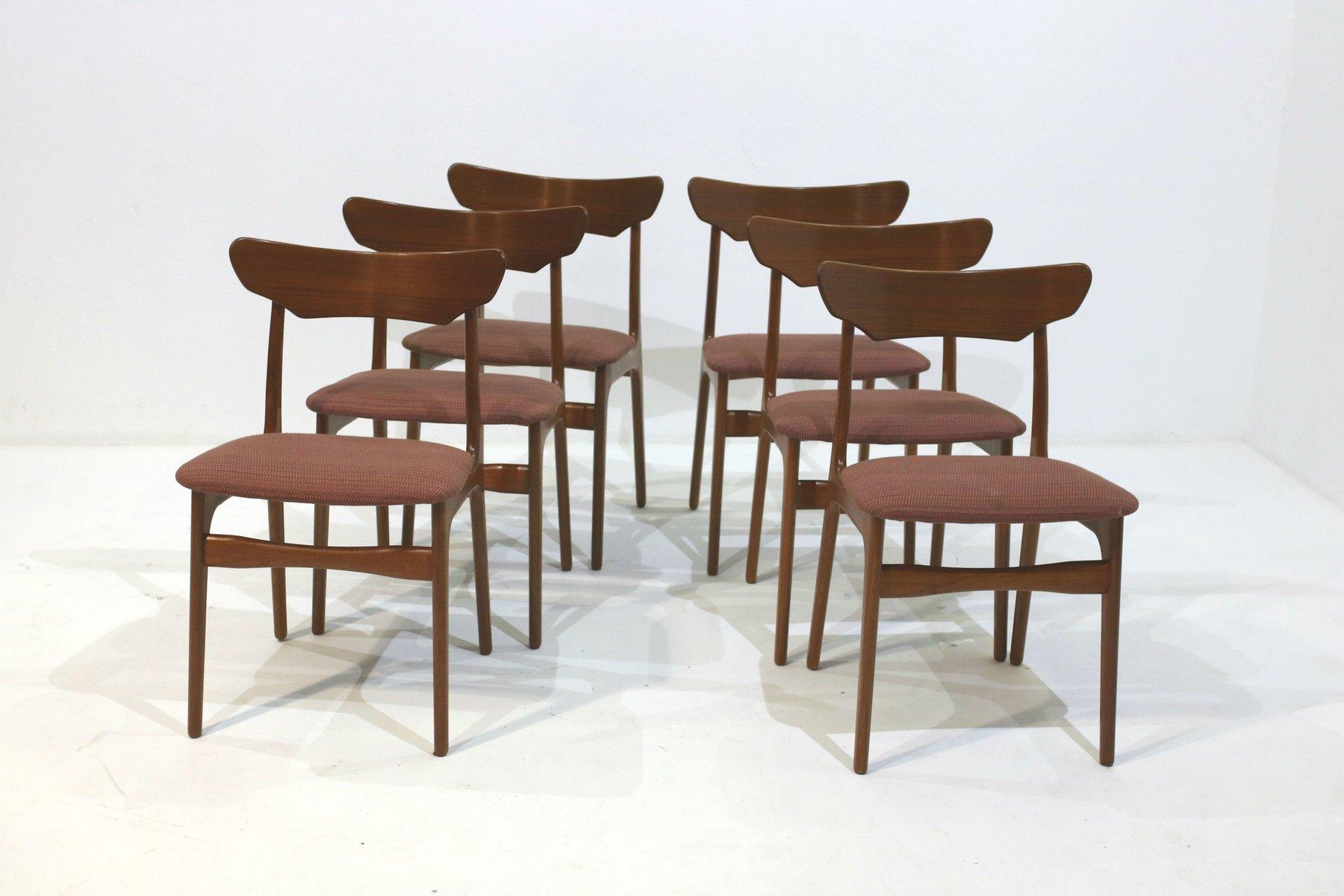 esszimmerst hle von schi nning elgaard 1960er 6er set. Black Bedroom Furniture Sets. Home Design Ideas