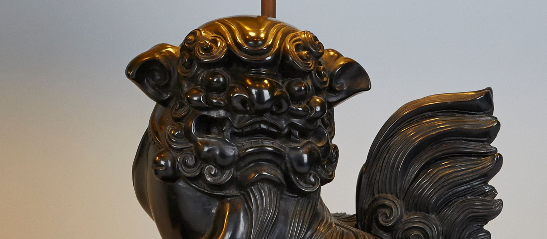 Carved cast stone foo dog table lamps s set of for