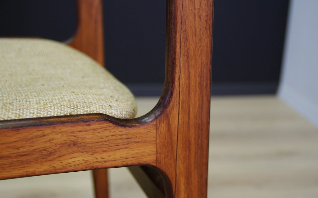 Danish Vintage Rosewood Dining Chairs Set of 4 for sale at Pamono