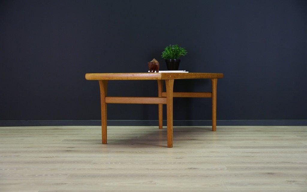 Vintage Danish Coffee Table In Ash And Teak Veneer