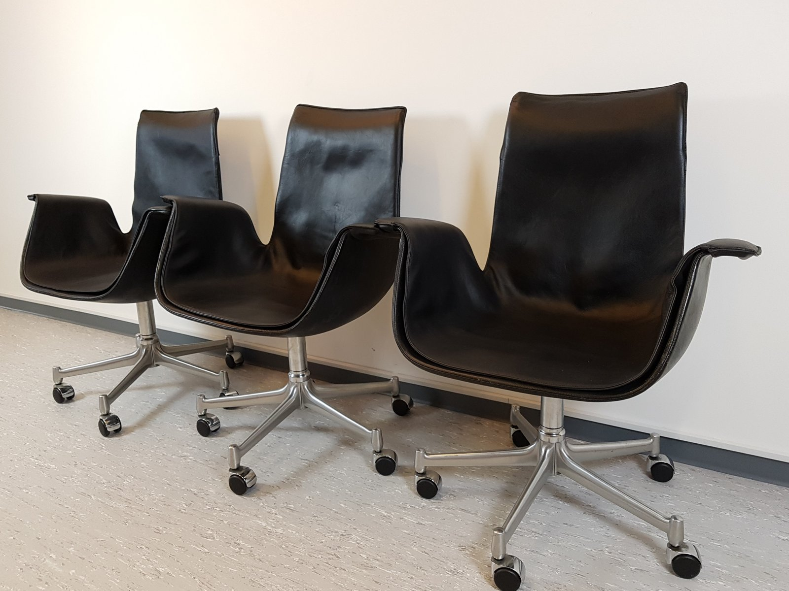 Tulip chair by preben fabricius j rgen kastholm for knoll 1950s for sale at pamono - Tulip chairs for sale ...