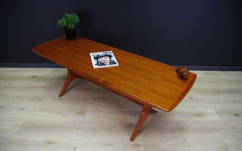 Danish Vintage Teak Veneer Coffee Table For Sale At Pamono