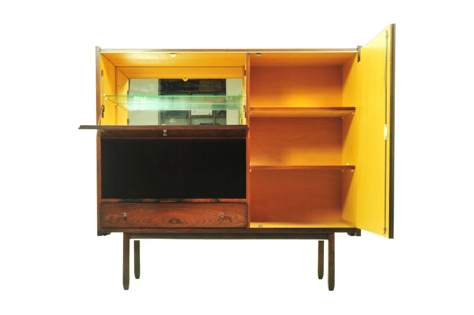 d nischer palisander schrank mit barfach bei pamono kaufen. Black Bedroom Furniture Sets. Home Design Ideas