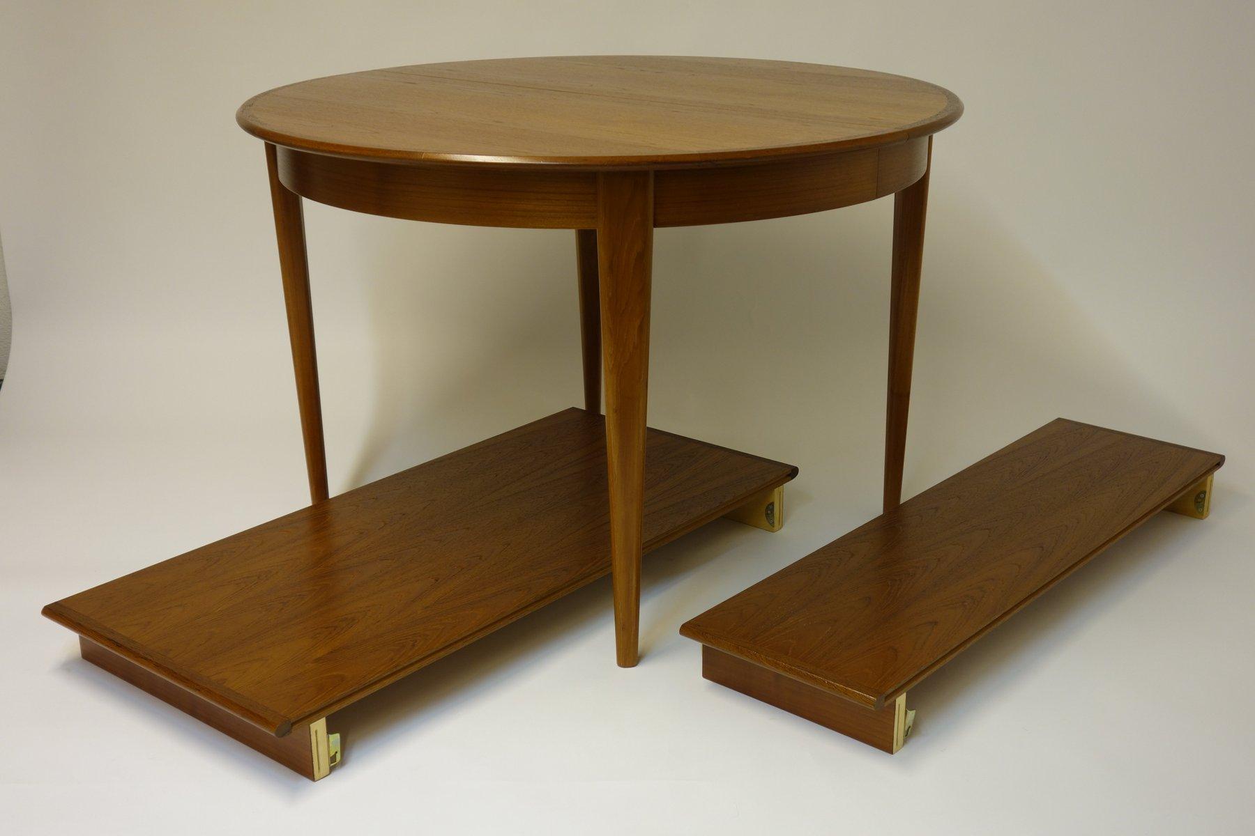 table de salle manger avec deux rallonges et quatre chaises de brdr andersen 1966 en vente. Black Bedroom Furniture Sets. Home Design Ideas