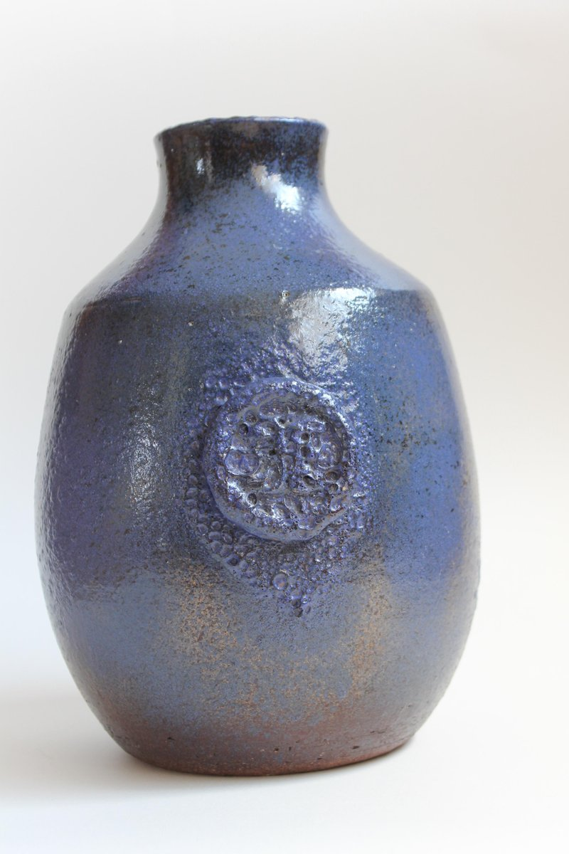 blaue mid century keramikvase von kildahl bei pamono kaufen. Black Bedroom Furniture Sets. Home Design Ideas
