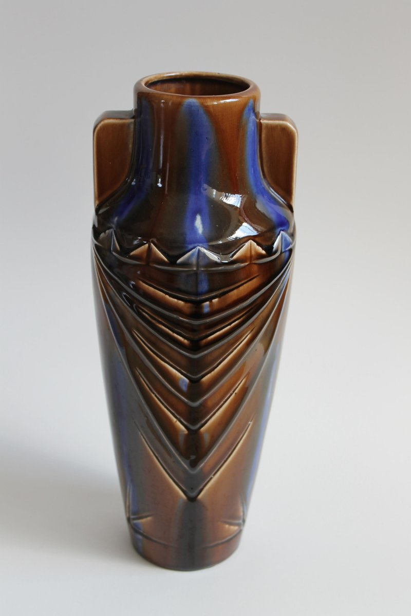 Art deco vases from august mouzin et cie 1930s set of 3 for Art et decoration