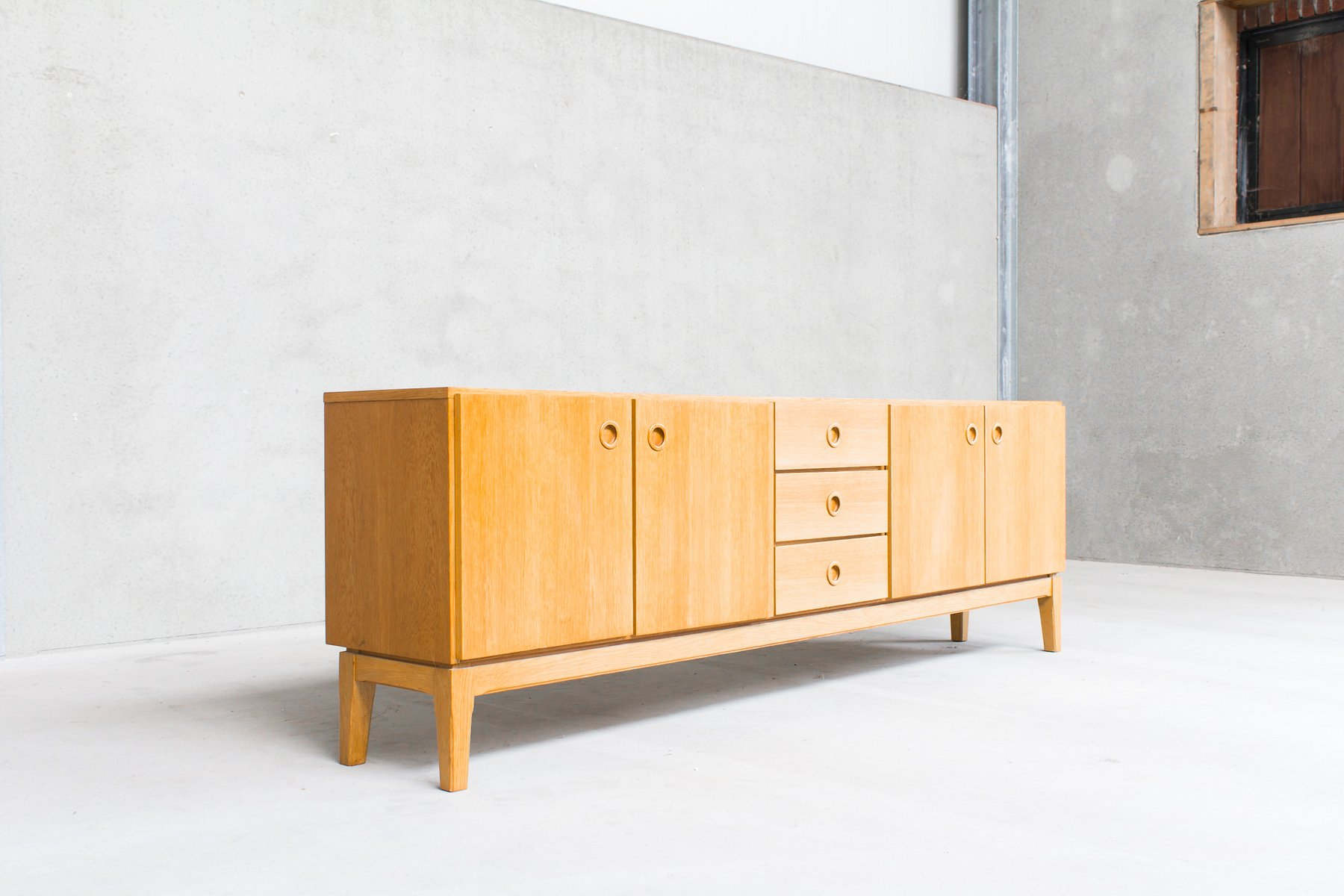 Vintage scandinavian sideboard with drawers and doors for for Sideboard scandi