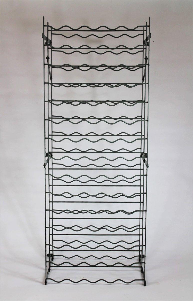 schweizer metall weinregal von bigla 1960er bei pamono kaufen. Black Bedroom Furniture Sets. Home Design Ideas