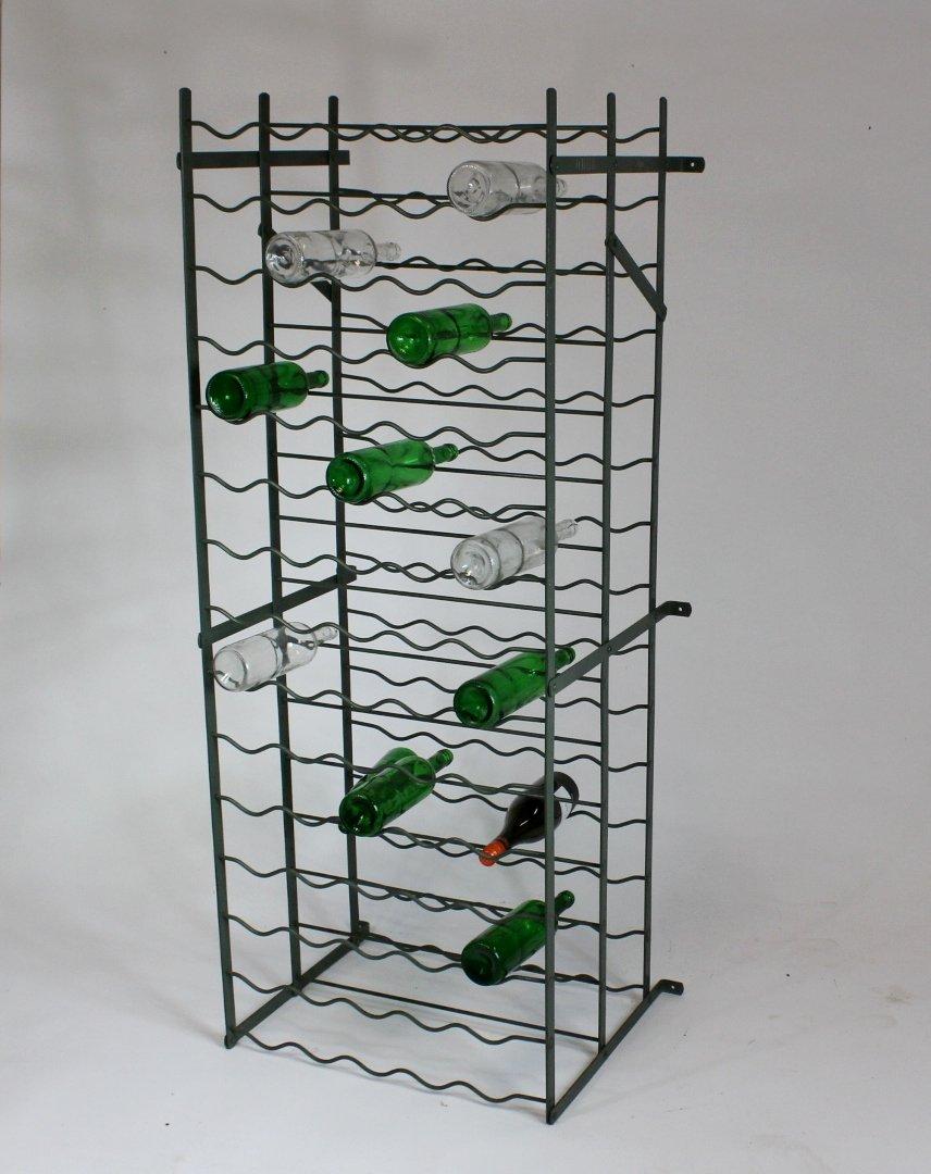 casier bouteilles de vin en m tal de bigla suisse 1960s en vente sur pamono. Black Bedroom Furniture Sets. Home Design Ideas