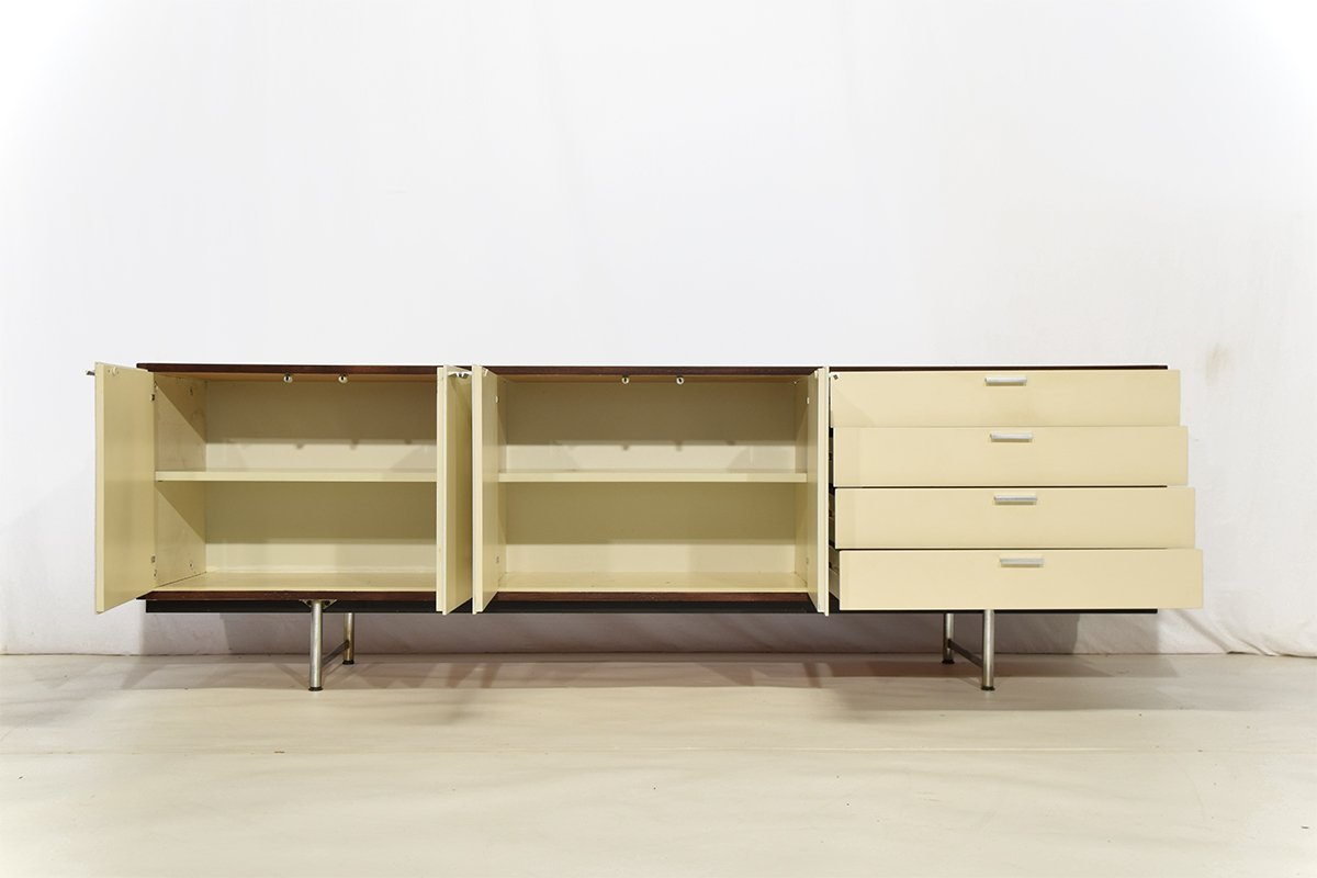 Mid century white lacquered wenge sideboard by cees - Sideboard wenge ...