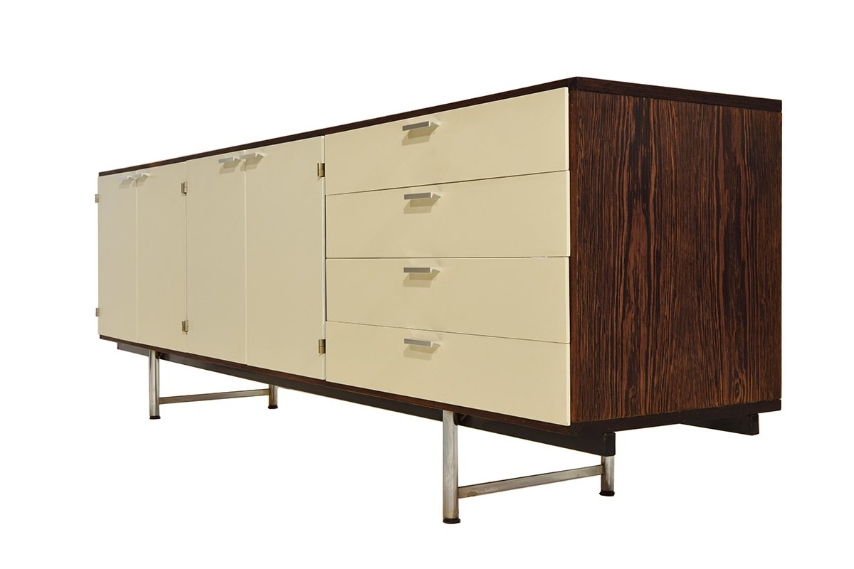 Mid century white lacquered wenge sideboard by cees braakman for pastoe for sale at pamono - Sideboard wenge ...
