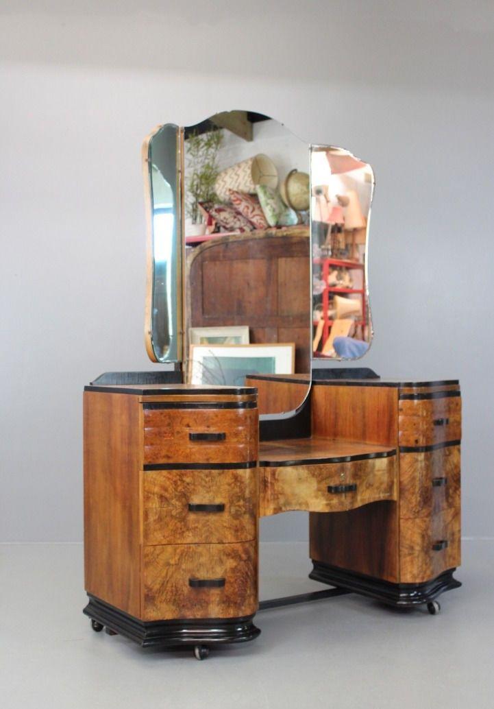 vintage art deco dressing table for sale at pamono. Black Bedroom Furniture Sets. Home Design Ideas
