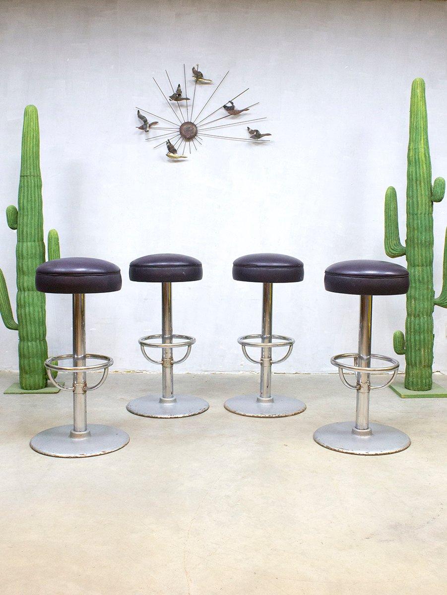 industrielle vintage barhocker 4er set bei pamono kaufen. Black Bedroom Furniture Sets. Home Design Ideas