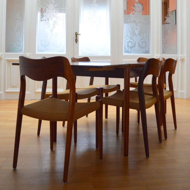 Rio Rosewood Dining Table From Niels O. Møller, 1950s