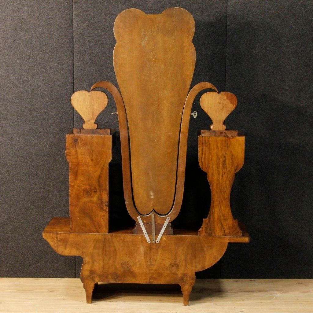 italienische cheval spiegel aus nussholz 1930er bei pamono kaufen. Black Bedroom Furniture Sets. Home Design Ideas