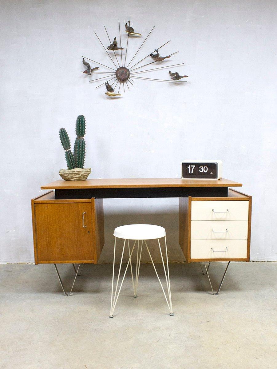 vintage schreibtisch von cees braakman f r pastoe bei. Black Bedroom Furniture Sets. Home Design Ideas