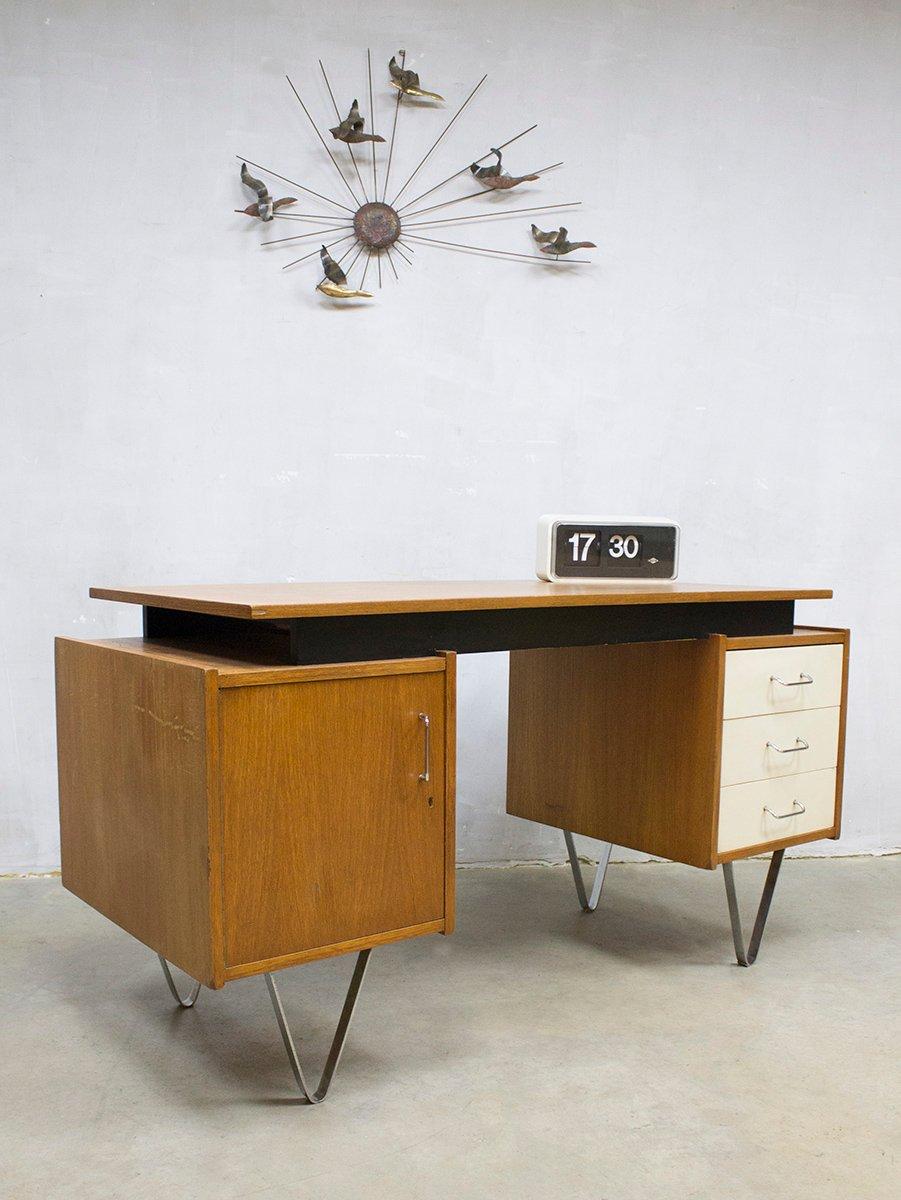 vintage schreibtisch von cees braakman f r pastoe bei pamono kaufen. Black Bedroom Furniture Sets. Home Design Ideas