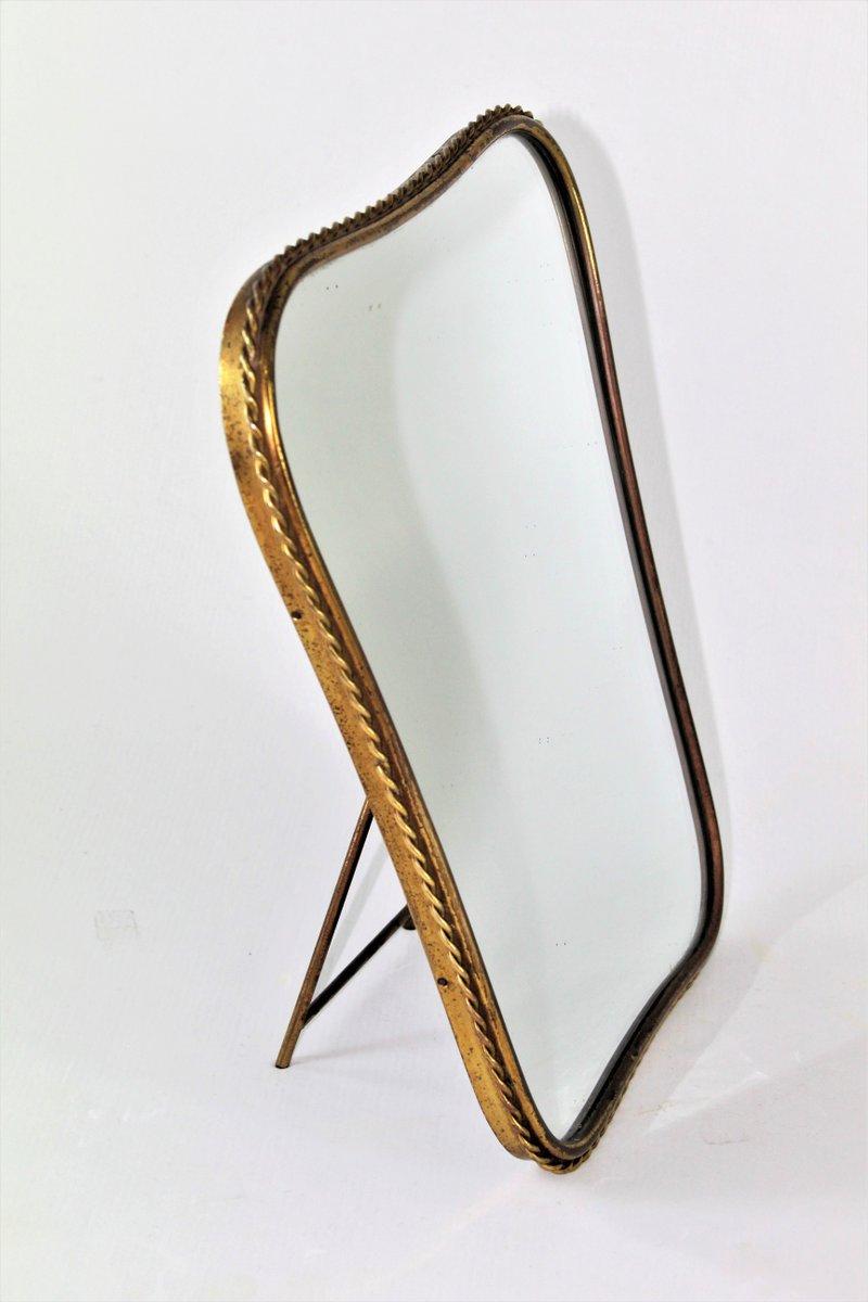 spiegel mit messingrahmen 1950er bei pamono kaufen ForSpiegel Mit Messingrahmen