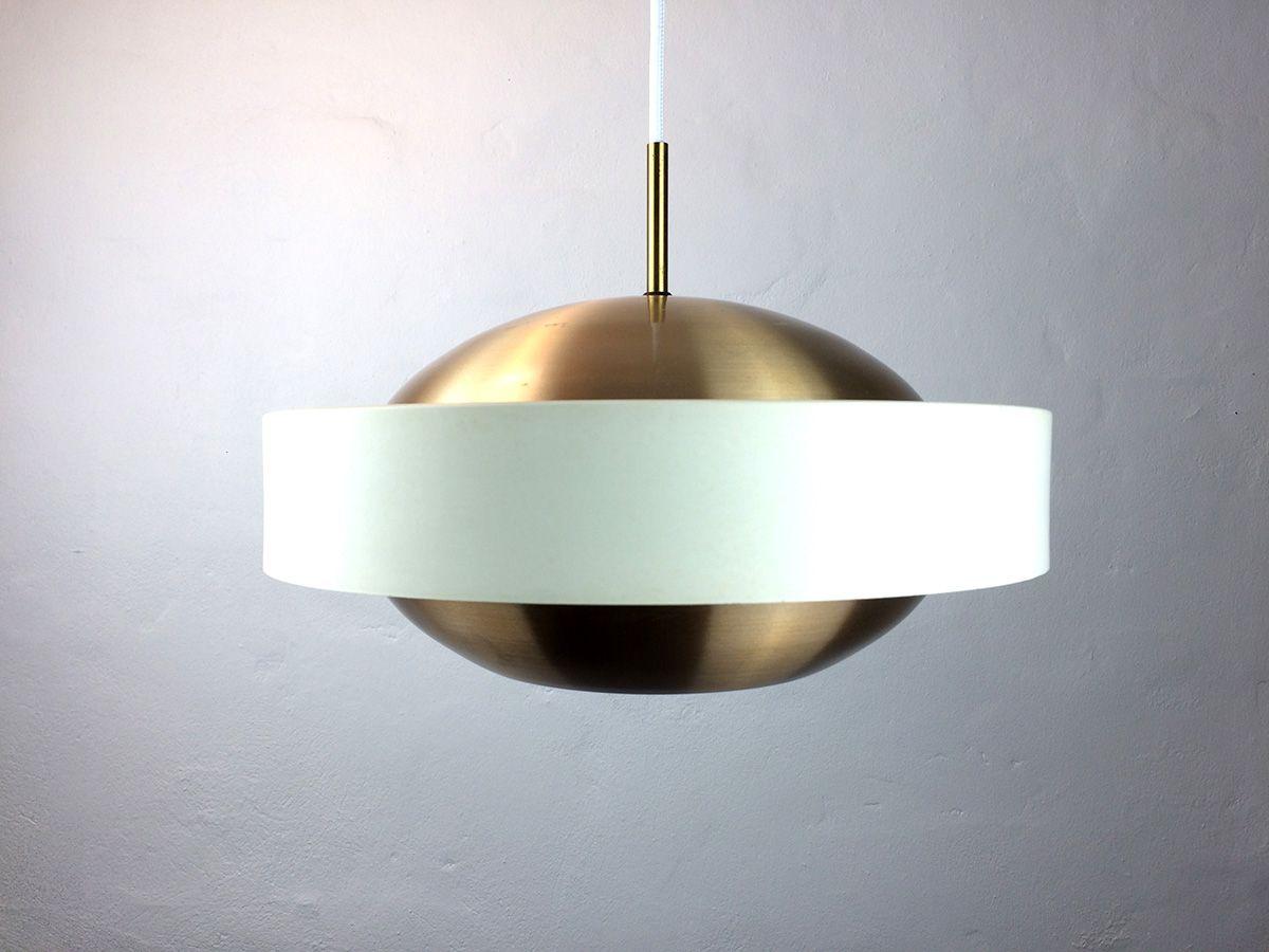 space age h ngelampe aus kupfer und wei em aluminium bei. Black Bedroom Furniture Sets. Home Design Ideas