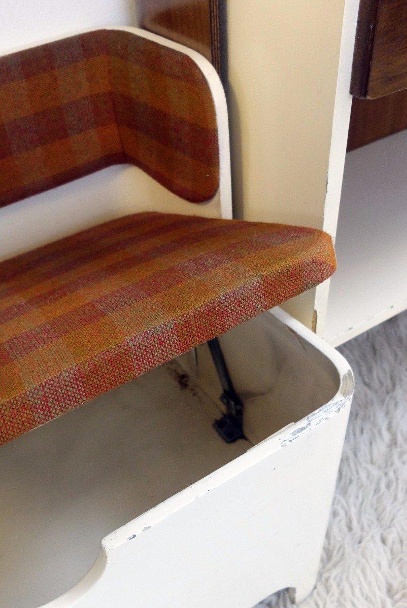 italienische vintage garderobe mit bank und stauraum von. Black Bedroom Furniture Sets. Home Design Ideas