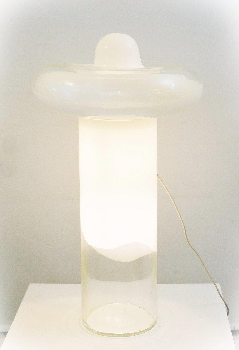 italienische vintage stehlampe aus glas bei pamono kaufen. Black Bedroom Furniture Sets. Home Design Ideas