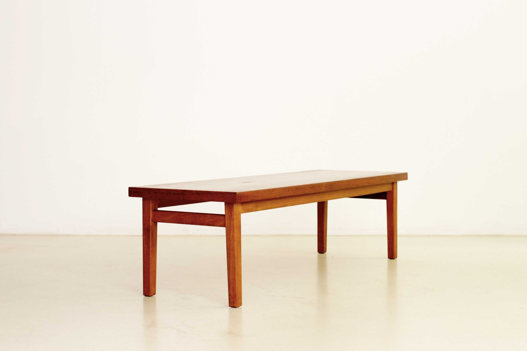 Rectangular Scandinavian Teak Coffee Table 1950s for sale at Pamono