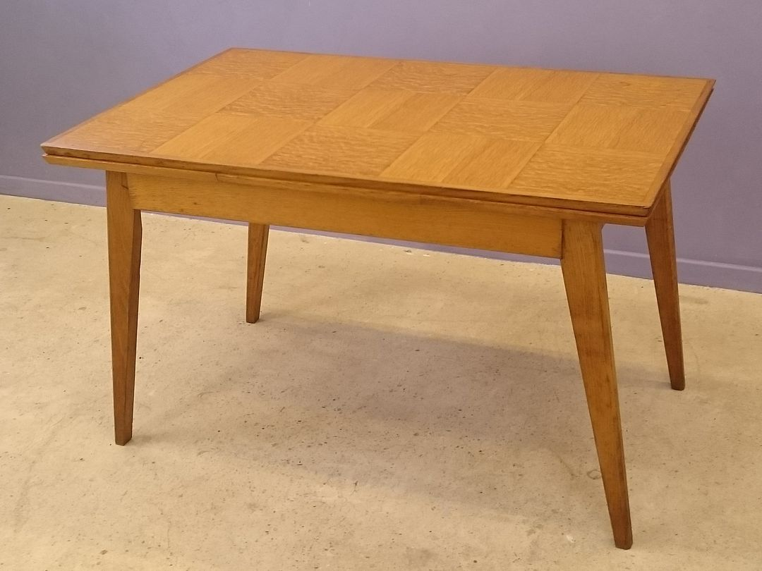 Vintage oak marquetry extendable dining table for sale at for 11 table