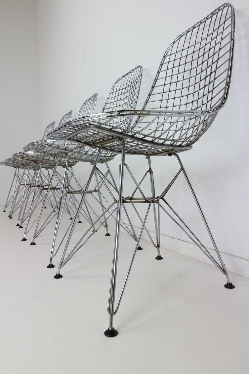 Dkr eiffel base wire chairs by charles ray eames for for Eiffel chair de charles eames