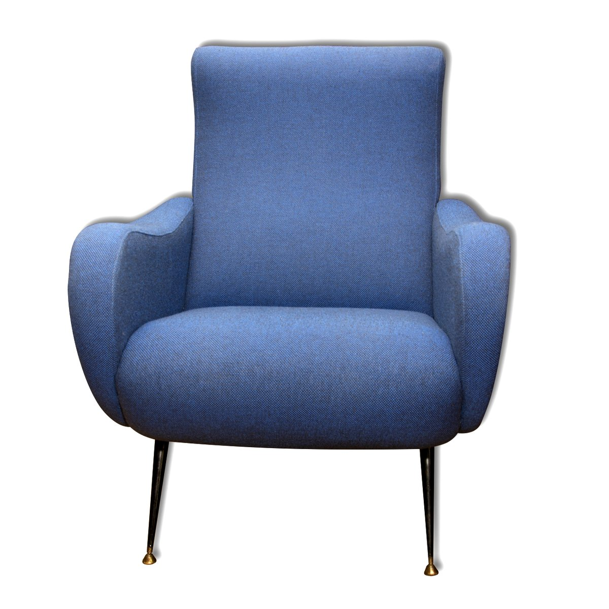 Blue Italian Armchairs 1960s Set Of 2 For Sale At Pamono