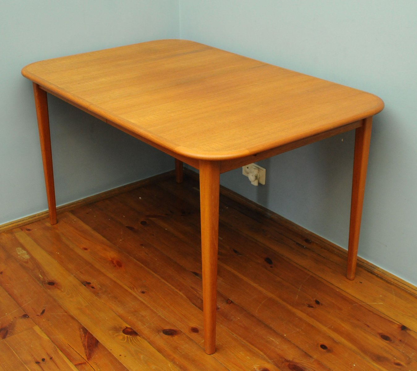 Large Dining Table With Extension Leaves 1960s For Sale