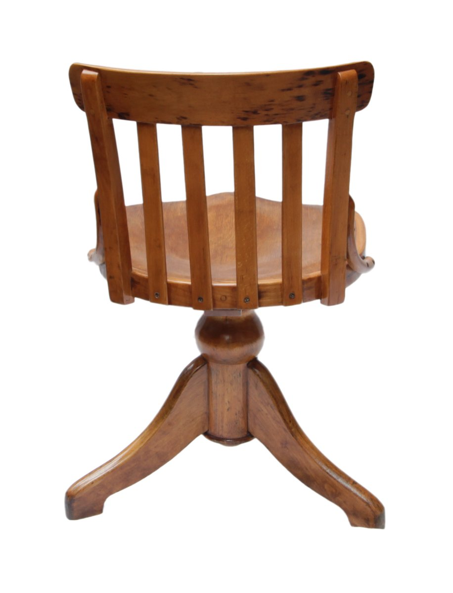 antique beech wood swivel chair for sale at pamono