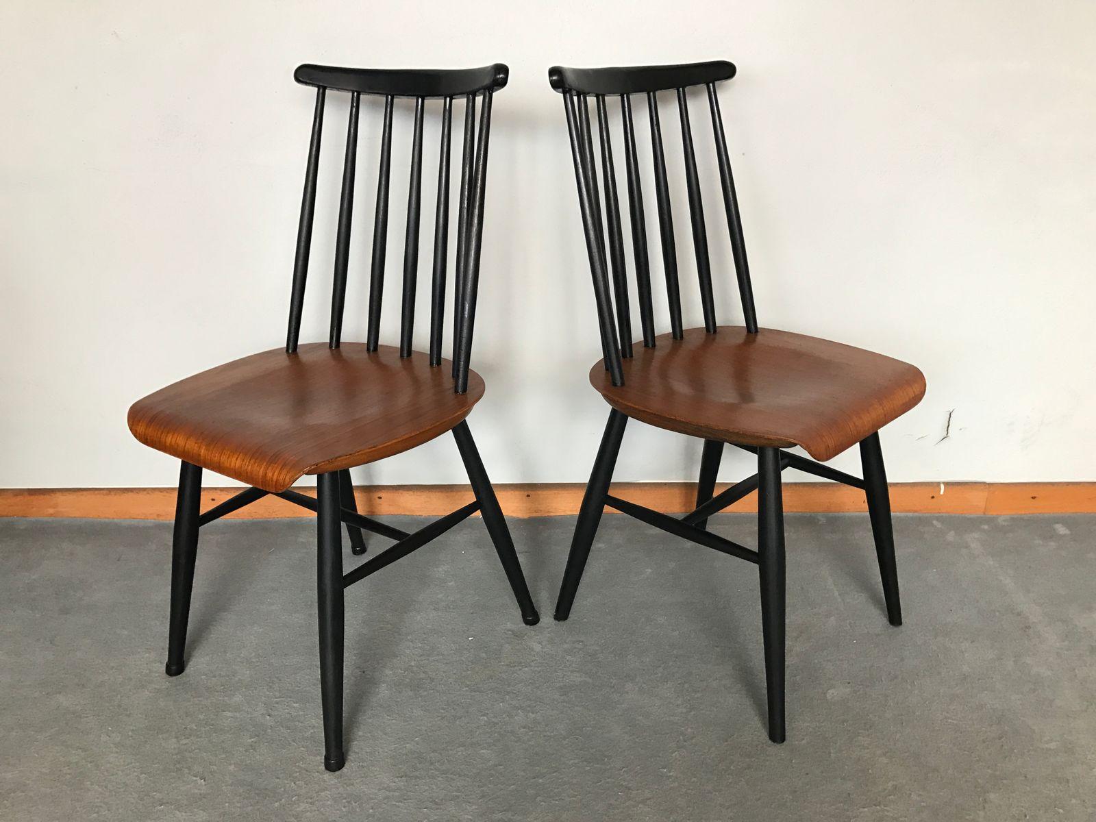 fanett teak st hle von ilmari tapiovaara 1960er 4er set bei pamono kaufen. Black Bedroom Furniture Sets. Home Design Ideas