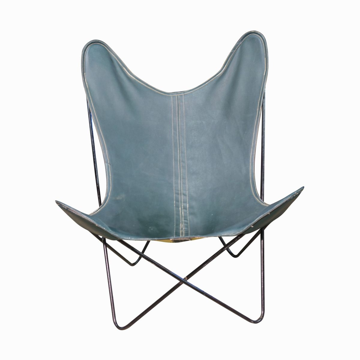 midcentury leather butterfly chair by jorge 1960s