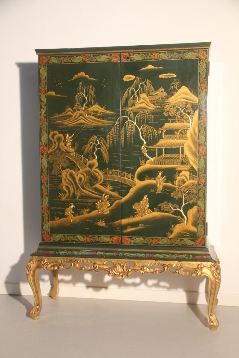 - Vintage Chinoiserie Cabinet, 1950s For Sale At Pamono
