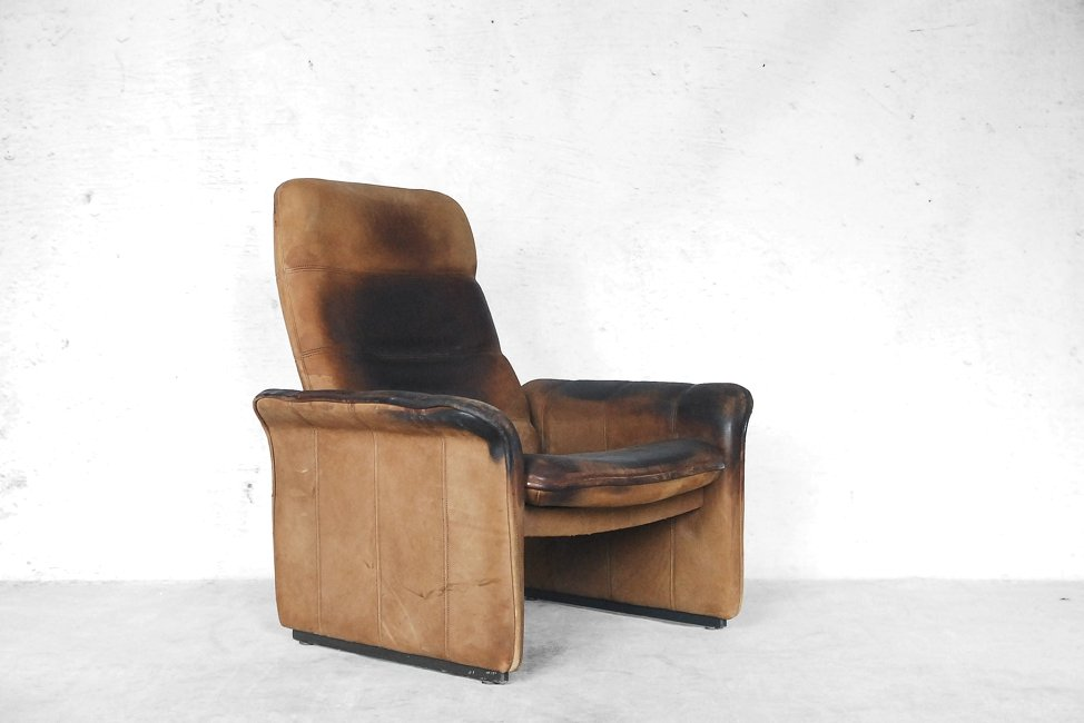 Adjustable Ds 50 Buffalo Leather Lounge Chair From De Sede 1970s For Sale At Pamono