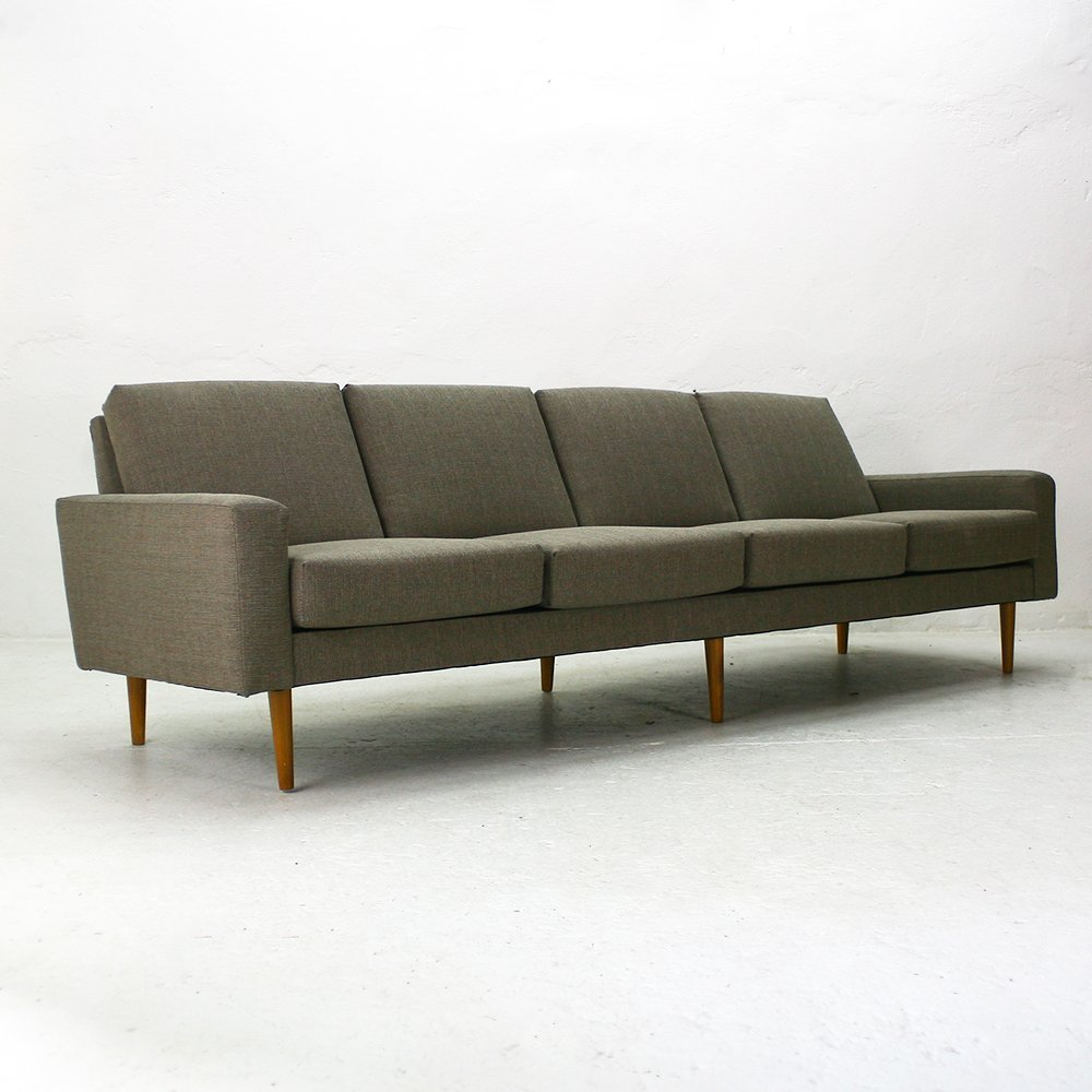 mid century modern four seater sofa for sale at pamono. Black Bedroom Furniture Sets. Home Design Ideas