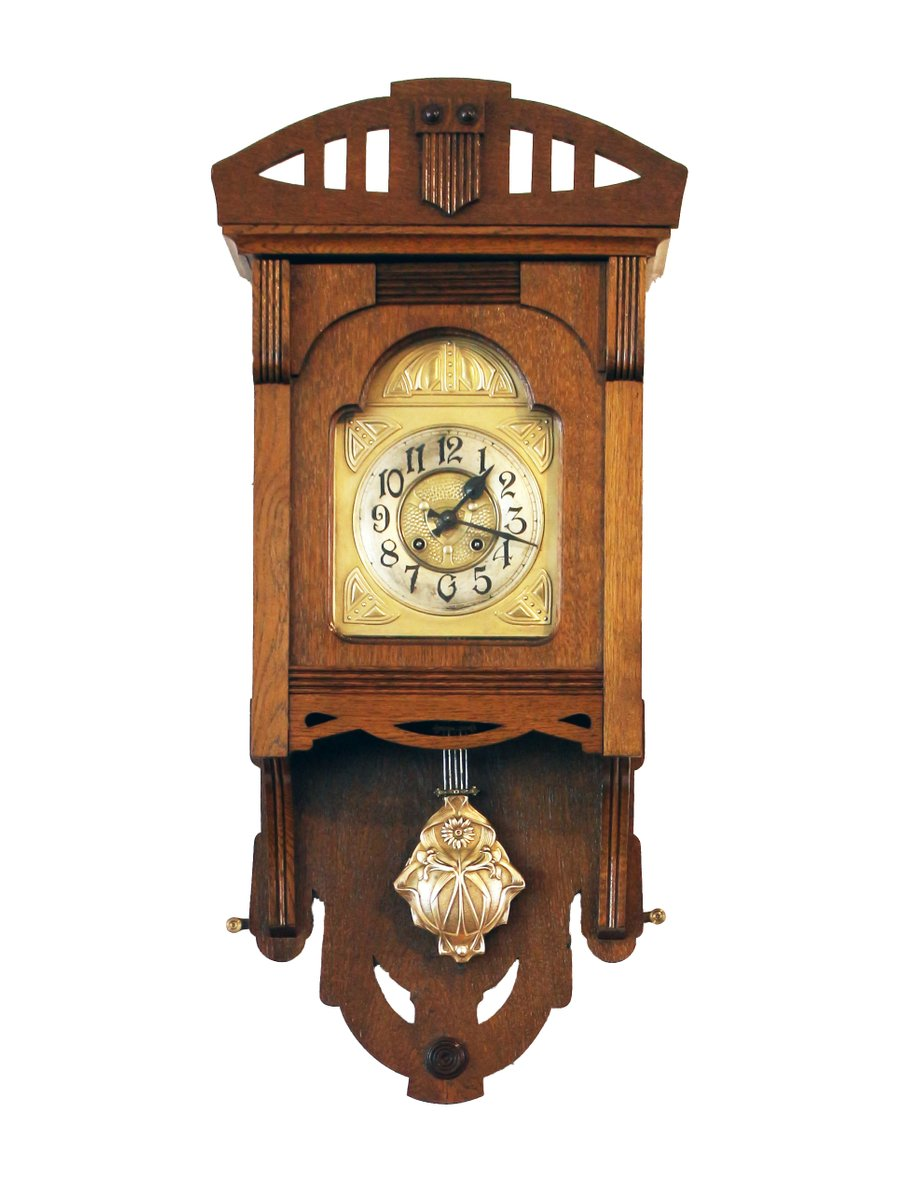 Art Nouveau Wall Clock From VFU AG 3. $2,341.00. Price Per Piece Part 73